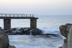 αλιεύοντας αποβάθρα Στοκ Εικόνα