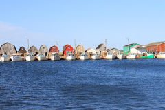 Αλιεύοντας αποβάθρα Στοκ Εικόνες