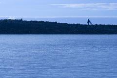 αλιεύοντας γιος πατέρων Στοκ φωτογραφίες με δικαίωμα ελεύθερης χρήσης
