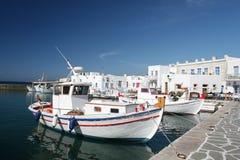 αλιεύοντας ελληνικό χωριό Στοκ Φωτογραφίες
