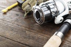 Αλιεύοντας εξοπλισμός και εξαρτήματα Στοκ φωτογραφία με δικαίωμα ελεύθερης χρήσης