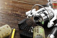 Αλιεύοντας εξοπλισμός και εξαρτήματα Στοκ εικόνα με δικαίωμα ελεύθερης χρήσης