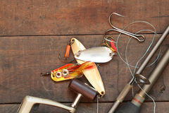 αλιεύοντας εξοπλισμός Στοκ φωτογραφίες με δικαίωμα ελεύθερης χρήσης