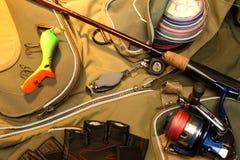 αλιεύοντας εξοπλισμός Στοκ Φωτογραφία