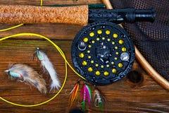 Αλιεύοντας εξοπλισμός Στοκ Εικόνα