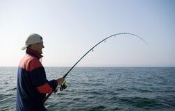 αλιεύοντας θάλασσα Στοκ Φωτογραφίες