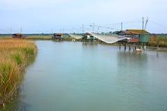 αλιεύοντας καλύβες Στοκ Φωτογραφίες