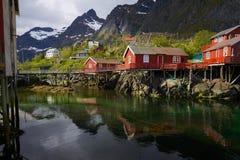Αλιεύοντας καλύβες Στοκ Εικόνες