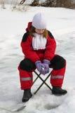 αλιεύοντας κορίτσι Στοκ Φωτογραφία
