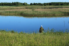 αλιεύοντας λίμνη Στοκ Εικόνα