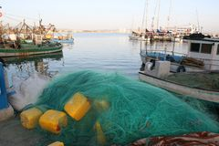 αλιεύοντας λιμένας Στοκ εικόνες με δικαίωμα ελεύθερης χρήσης
