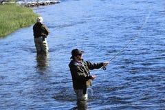 αλιεύοντας μύγα Στοκ Εικόνα