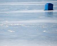 αλιεύοντας πάγος καλυβών Στοκ Φωτογραφία