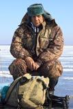 αλιεύοντας πάγος Στοκ Φωτογραφία