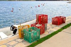 αλιεύοντας παγίδες Στοκ φωτογραφίες με δικαίωμα ελεύθερης χρήσης