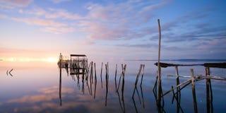 αλιεύοντας παλαιά αποβά&the Στοκ Εικόνα