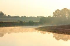 αλιεύοντας ποταμός ομίχ&lambda Στοκ Εικόνα
