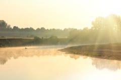 αλιεύοντας ποταμός ομίχ&lambda Στοκ Φωτογραφία