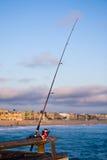 αλιεύοντας πόλος αποβα& Στοκ Εικόνες