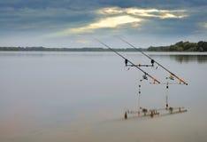 αλιεύοντας ράβδοι Στοκ εικόνα με δικαίωμα ελεύθερης χρήσης
