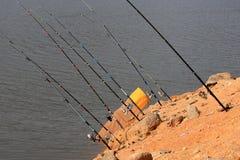 αλιεύοντας ράβδοι στοκ εικόνες