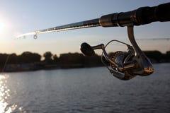 Αλιεύοντας ράβδος στοκ φωτογραφίες