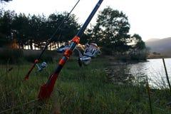 Αλιεύοντας ράβδος Στοκ Εικόνα