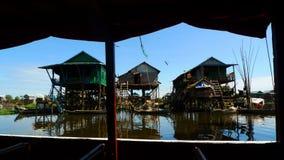 αλιεύοντας kompong phluk χωριό Στοκ φωτογραφία με δικαίωμα ελεύθερης χρήσης