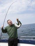 αλιεύοντας motorboat θάλασσα Στοκ φωτογραφία με δικαίωμα ελεύθερης χρήσης