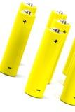 αλκαλικό batteri κίτρινο Στοκ φωτογραφία με δικαίωμα ελεύθερης χρήσης