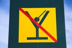 αλκοόλη κανένα σημάδι Στοκ φωτογραφίες με δικαίωμα ελεύθερης χρήσης