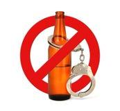 Αλκοόλη στάσεων σημαδιών Στοκ Εικόνα