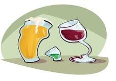 αλκοόλη ελεύθερη απεικόνιση δικαιώματος