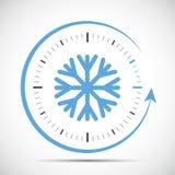 Αλλαγή ρολογιών στην περίληψη χειμώνα διανυσματική απεικόνιση