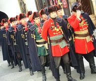 Αλλαγή φρουράς συνταγμάτων Kravat Στοκ Εικόνα