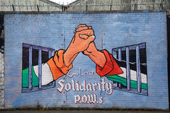 Αλληλεγγύη με την Παλαιστίνη, Μπέλφαστ, Βόρεια Ιρλανδία Στοκ Φωτογραφίες