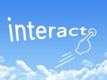 Αλληλεπιδράστε μορφή σύννεφων μηνυμάτων απεικόνιση αποθεμάτων