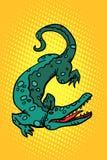 Αλλιγάτορας κροκοδείλων cayman διανυσματική απεικόνιση