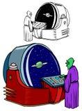 Αλλοδαπός διαστημικός θεατής Στοκ εικόνα με δικαίωμα ελεύθερης χρήσης