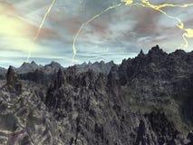 αλλοδαπός πλανήτης Στοκ Εικόνες