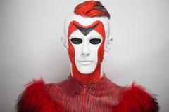 Αλλοδαπό κόκκινο άσπρο πρόσωπο ατόμων Στοκ Φωτογραφία