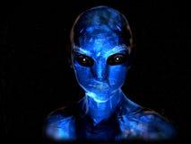 αλλοδαπό μπλε Στοκ φωτογραφία με δικαίωμα ελεύθερης χρήσης