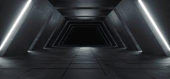 Αλλοδαπό σύγχρονο φουτουριστικό μινιμαλιστικό κενό σκοτεινό συγκεκριμένο κοβάλτιο του Sci Fi στοκ φωτογραφία