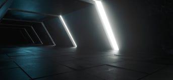 Αλλοδαπό σύγχρονο φουτουριστικό μινιμαλιστικό κενό σκοτεινό συγκεκριμένο κοβάλτιο του Sci Fi στοκ φωτογραφίες με δικαίωμα ελεύθερης χρήσης
