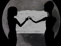 αλλοδαπό CAD που ελέγχει το κορίτσι Στοκ φωτογραφία με δικαίωμα ελεύθερης χρήσης