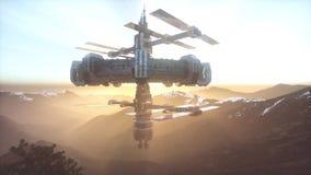 Αλλοδαπό ufo στη γη απεικόνιση αποθεμάτων