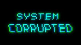 Αλλοιωμένο σύστημα κείμενο με το κακό σήμα Επίδραση δυσλειτουργίας διανυσματική απεικόνιση