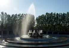 Αλμάτι, Καζακστάν, στις αρχές χρόνου άνοιξη, Al-Farabi λεωφόρος, πρώτο πάρκο Προέδρου ` s στοκ φωτογραφία με δικαίωμα ελεύθερης χρήσης