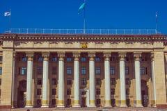 ΑΛΜΆΤΙ, ΚΑΖΑΚΣΤΑΝ - 16 Απριλίου 2016: Παλαιό κυβερνητικό σπίτι σε Alm Στοκ Εικόνα
