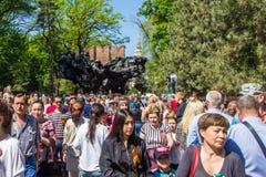 ΑΛΜΆΤΙ, ΚΑΖΑΚΣΤΑΝ - 9 ΜΑΐΟΥ: Νίκη εορτασμού ημέρας νίκης μέσα Στοκ Εικόνες